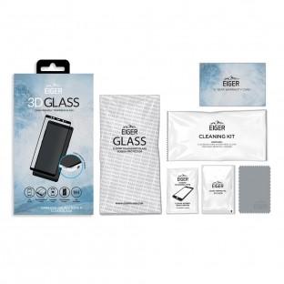 Eiger Samsung Note 8 3D Panzer Glas Display Schutzfolie mit Rahmen Schwarz (EGSP00143)