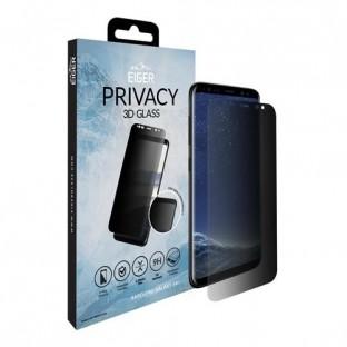 Eiger Samsung Galaxy S8 Plus Privacy Vollbild 3D Panzer Glas Display Schutzfolie Schwarz (EGSP00164)