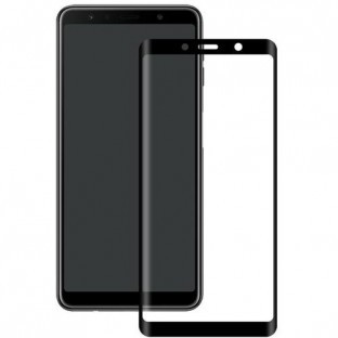 Eiger Samsung Galaxy A9 (2018) Full Screen 3D Armor Glass Display Protective Film with Frame Black (EGSP00346)
