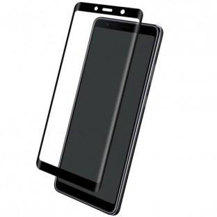 Eiger Samsung Galaxy A9 (2018) Vollbild 3D Panzer Glas Display Schutzfolie mit Rahmen Schwarz (EGSP00346)