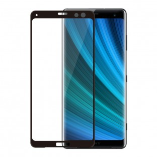 Eiger Sony Xperia XZ3 Full Screen 3D Armor Glass Display Protector Film with Frame Black (EGSP00310)