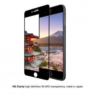 Eiger iPhone 8 Plus / 7 Plus / 6S Plus / 6 Plus 3D Panzer Glas Display Schutzfolie mit Rahmen Schwarz (EGSP00125)
