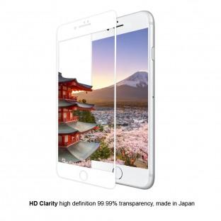 Eiger iPhone 8 Plus / 7 Plus / 6S Plus / 6 Plus 3D Panzer Glas Display Schutzfolie mit Rahmen Weiss (EGSP00146)