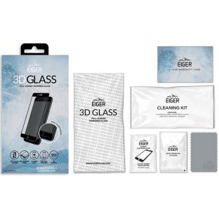 Eiger iPhone SE (2020) / 8 / 7 / 6S / 6 3D Panzer Glas Display Schutzfolie mit Rahmen Schwarz (EGSP00124)