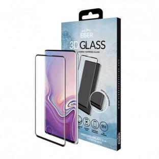 Eiger Samsung Galaxy S10 Vollbild 3D Panzer Glas Display Schutzfolie mit Rahmen Schwarz (EGSP00353)