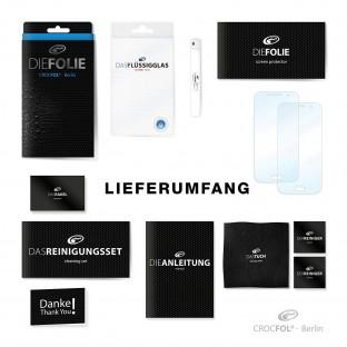 2er Set Crocfol iPhone Xs / X / 11 Pro Flüssig Glas Display Schutzfolie Transparent (DF5095-CF)