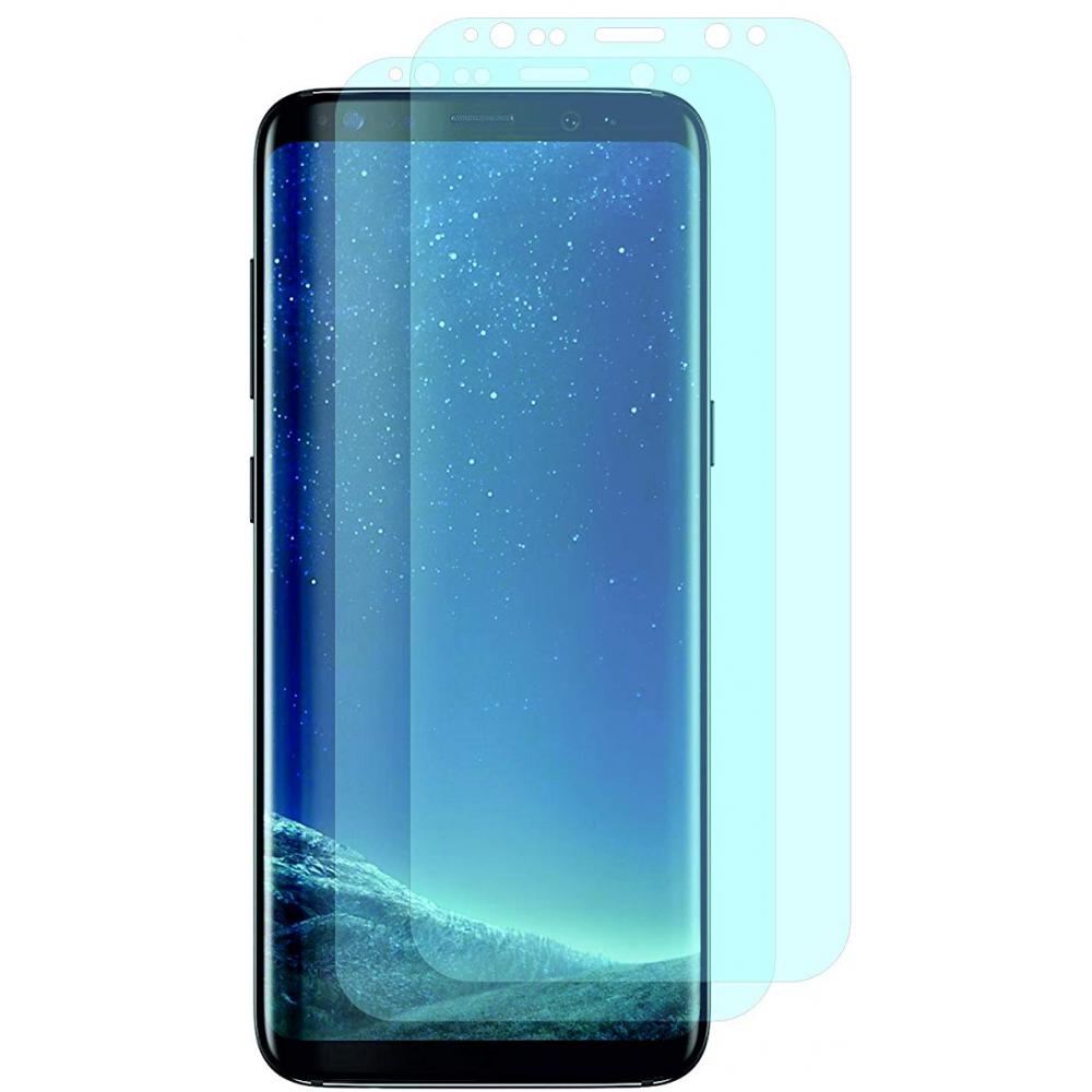 2er Set Crocfol Samsung Galaxy S9 Plus Flüssig Glas Display Schutzfolie Transparent (DF4693-CF)