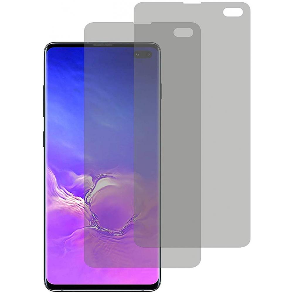 2er Set Crocfol Samsung Galaxy S10 Plus Flüssig Glas Display Schutzfolie Transparent (DF4950-CF)