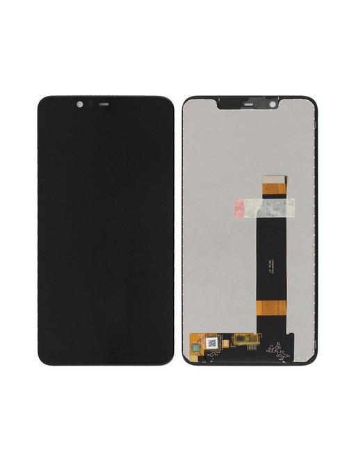 Nokia 5.1 Plus LCD Digitizer Ersatzdisplay Schwarz