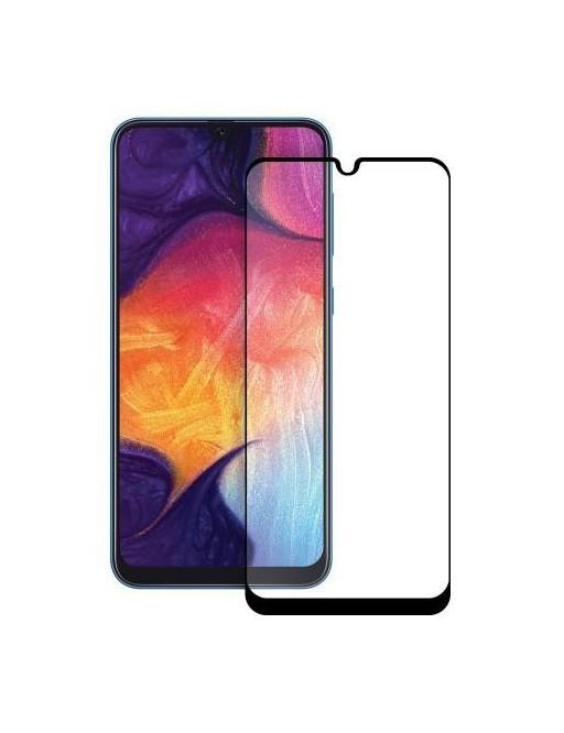 Eiger Samsung Galaxy A50 3D Panzer Glas Display Schutzfolie mit Rahmen Schwarz (EGSP00467)