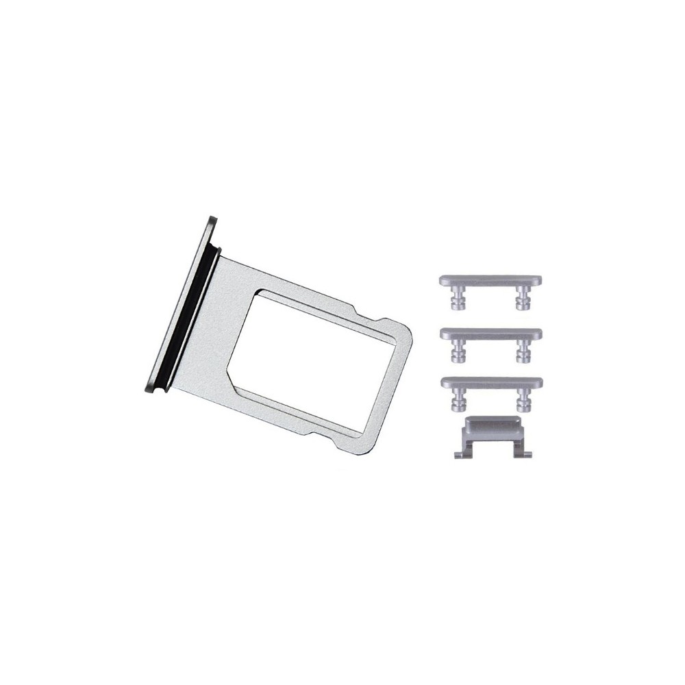 iPhone 7 Sim Tray Karten Schlitten Adapter Set Grau