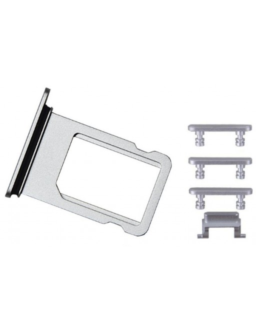 iPhone 7 Sim Tray Karten Schlitten Adapter Set Grau