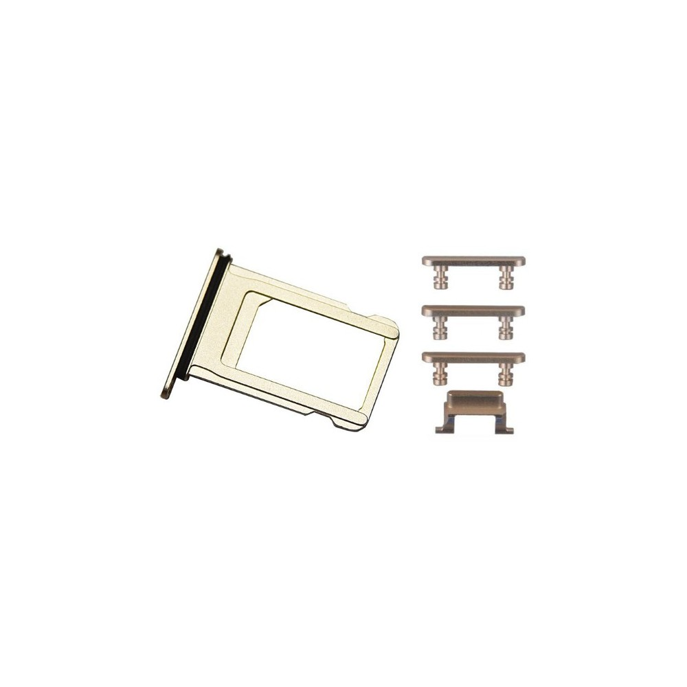 iPhone 7 Sim Tray Karten Schlitten Adapter Set Gold