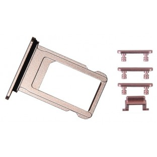 iPhone 7 Sim Tray Karten Schlitten Adapter Set Roségold