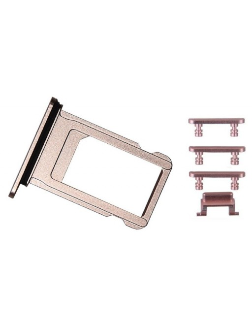 iPhone 7 Sim Tray Card Slider Adapter Set Rose Gold (A1660, A1778, A1779, A1780)