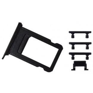 iPhone 7 Sim Tray Karten Schlitten Adapter Set Schwarz (A1660, A1778, A1779, A1780)