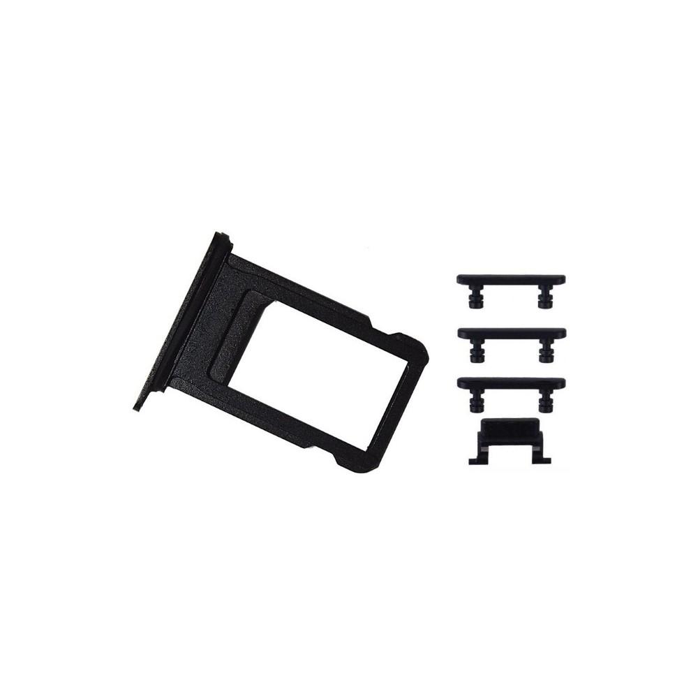 iPhone 7 Sim Tray Karten Schlitten Adapter Set Schwarz