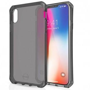 ITSkins iPhone Xs Max Spectrum Protection Hardcase Cover (Drop Protection 2 mètres) Transparent / Noir (APXP-SPECM-BLCK)