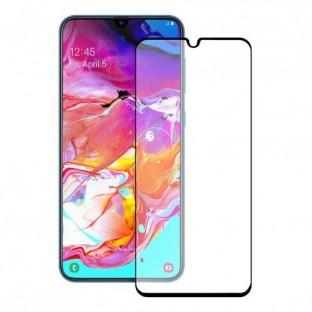 Eiger Samsung Galaxy A70 3D Panzer Glas Display Schutzfolie mit Rahmen Schwarz (EGSP00470)