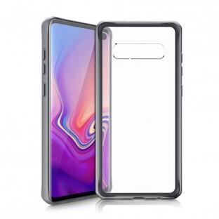 ITSkins Samsung Galaxy S10 Plus Hybrid MKII Schutz Hardcase Hülle (Fallschutz 2 Meter) Schwarz (SGSR-HYBMK-BKTR)
