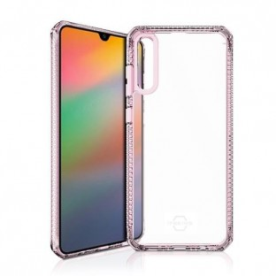 ITSkins Samsung Galaxy A70 Hybrid Clear Schutz Hardcase Hülle (Fallschutz 2 Meter) Transparent / Rosa (SG07-HBMKC-LKTR)