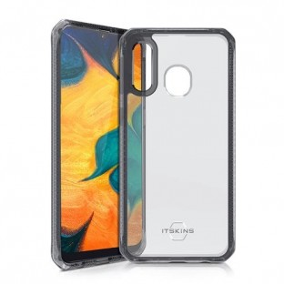 ITSkins Samsung Galaxy A40 Hybrid MKII Protection Hardcase Cover (Drop Protection 2 meters) Transparent / Black (SG04-HBMKC-BKTR
