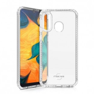ITSkins Samsung Galaxy A40 Hybrid MKII Protection Hardcase Cover (Drop Protection 2 mètres) Transparent / Noir (SG04-HBMKC-TRSP)