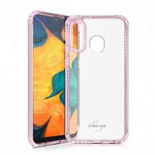 ITSkins Samsung Galaxy A40 Hybrid MKII Protection Hardcase Cover (Drop Protection 2 meters) Transparent / Pink (SG04-HBMKC-LKTR)