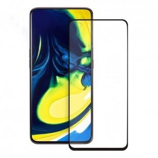 Eiger Samsung Galaxy A80 3D Panzer Glas Display Schutzfolie mit Rahmen Schwarz (EGSP00471)