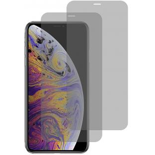 2er Set Crocfol iPhone Xs Max Flüssig Glas Display Schutzfolie Transparent (DF4803-CF)