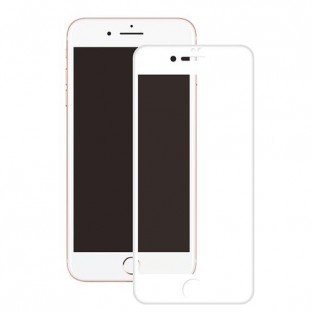 """Eiger Apple iPhone 8+, 7+, 6S+, 6+ Verre d'écran """"3D Glass Case-Friendly white"""""""