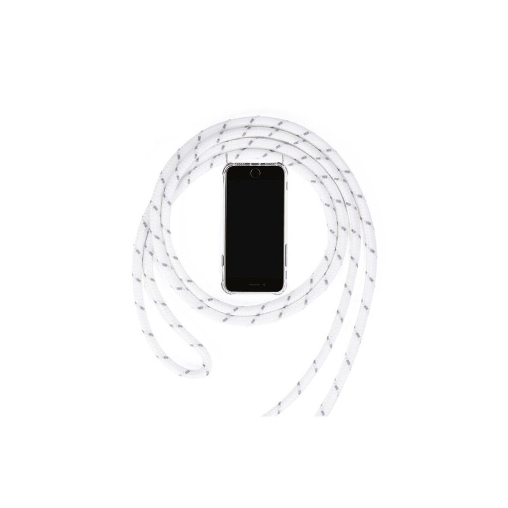 iPhone X Necklace Handyhülle aus Gummi mit Kordel Rosa